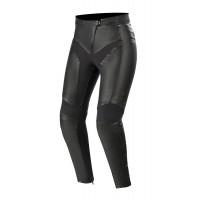 Pantaloni moto donna pelle Alpinestars VIKA v2 Nero