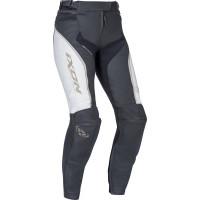 Pantaloni moto donna pelle Ixon TRINITY bianco nero oro