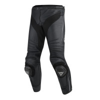 Pantaloni moto pelle Dainese Misano nero nero antracite
