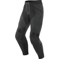 Pantaloni moto pelle Dainese PONY 3 Nero opaco