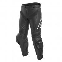 Pantaloni moto pelle racing Dainese DELTA 3 Nero Nero Bianco