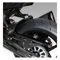 Parafango posteriore Barracuda KN107 in abs nero opaco e copricatena in alluminio nero per Kawasaki