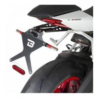 Portatarga reclinabile Barracuda DP810415 Nero per Ducati