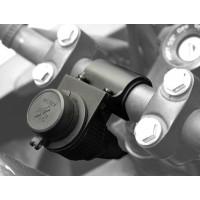 Presa 12V impermeabile con supporto universale per manubri moto BC P12A