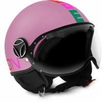 Casco jet bambino Momo Design Fighter Baby Rosa opaco