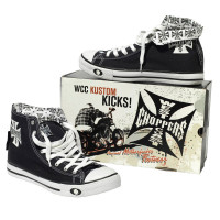 Scarpe West Coast Choppers Warriors Hi Top Nero