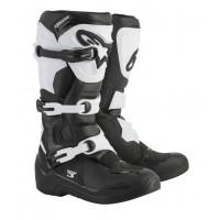 Stivali cross Alpinestars Tech 3 nero bianco