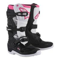 Stivali cross donna Alpinestars STELLA TECH 3 Nero Bianco Rosa