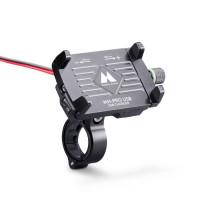 Supporto per smartphone da manubrio Midland MH-PRO USB con caricatore usb