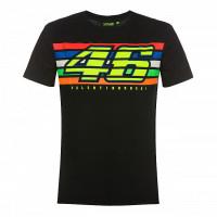 T-Shirt VR46 46 STRIPES Nero
