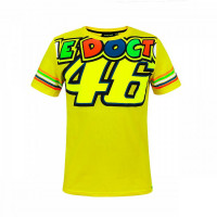T-Shirt VR46 The Doctor 46 STRIPES Giallo