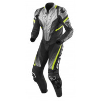 Tuta moto pelle Rev'it Intera Spitfire Argento-Giallo Neon