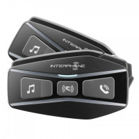 Interfono bluetooth Cellularline Interphone U-com 16 doppio