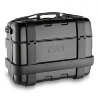 Valigia laterale Givi TREKKER trk33b monokey con finitura in alluminio e sportelli 33lt nero