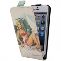 Custodie flap con fantasia Vespa Beach Iphone5 Cellular Line