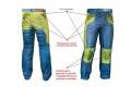 Jeans moto Motto URBAN con rinforzi in Fibra Aramidica blu