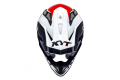 KYT cross helmet Strike Eagle K-MX fiber white red