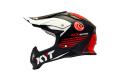 KYT cross helmet Strike Eagle K-MX fiber black red