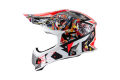 KYT cross helmet Strike Eagle New York fiber red fluo