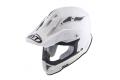 KYT cross helmet Strike Eagle Plain fiber white