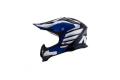 KYT cross helmet Strike Eagle Wings fiber white blue