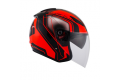 KYT jet helmet Hellcat Superfluo red