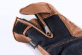 Blauer leather summer gloves Combo Denim brown
