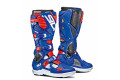 Sidi Crossfire 3 SRS offroad boots white blue red