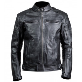 Carburo Kronos leather jacket Black White