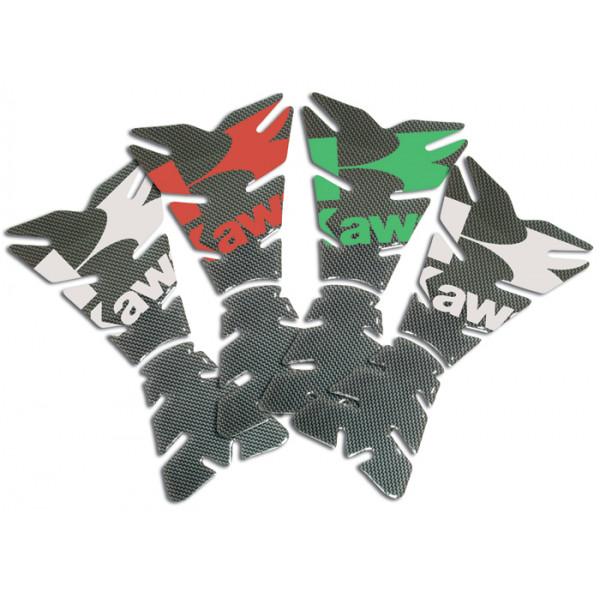Resin Tank Pad Carbon Progrip Kawasaki Green
