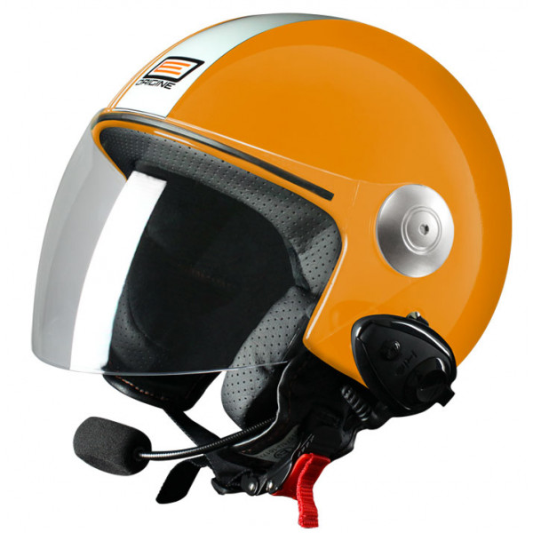 Source jet helmet with intercom Ready Tony KIE Orange