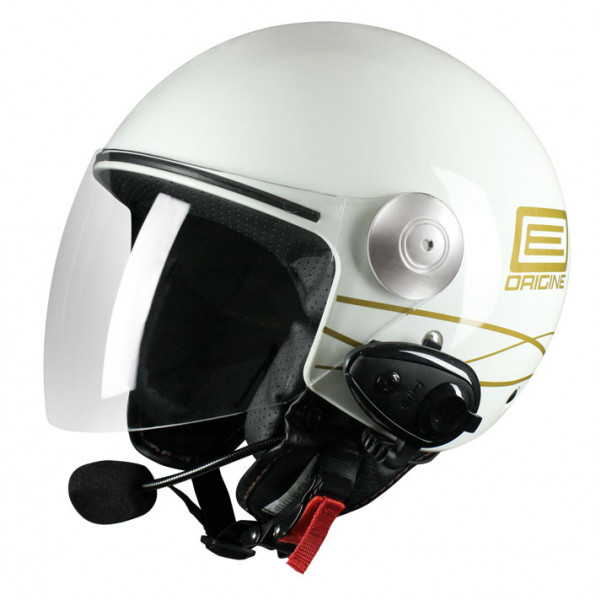 Origine Pronto Lia jet helmet with intercom KIE White Gold