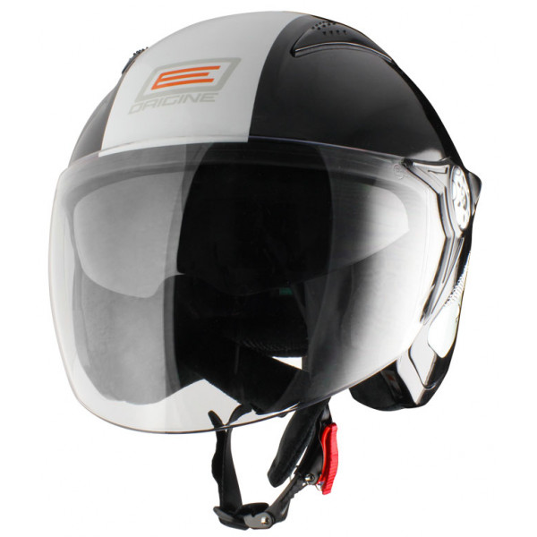 Origine Falco Retrò Jet Helmet Black White
