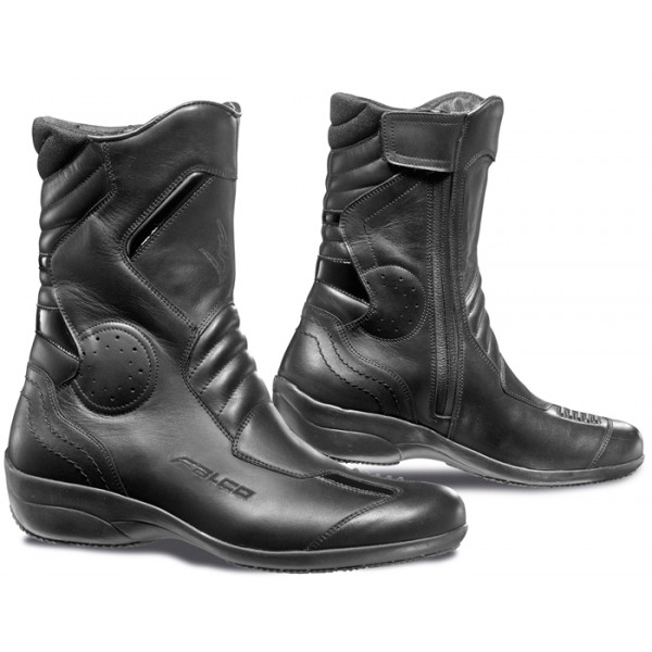 Woman leather motorcycle boots Black Falco Venus 2