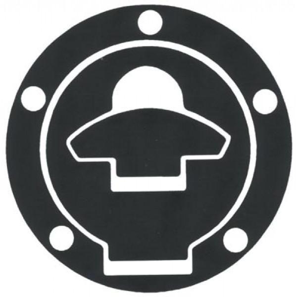 Adhesive resin tank protector cap Progrip Carbon Ducati