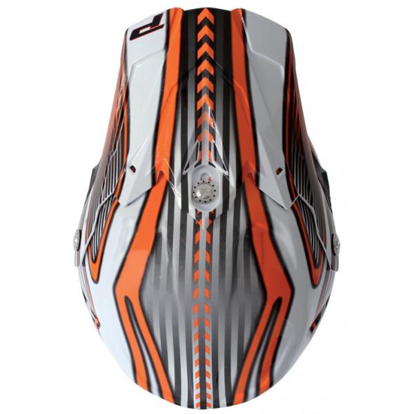 Cross helmet Progrip tri compound Challenge Orange