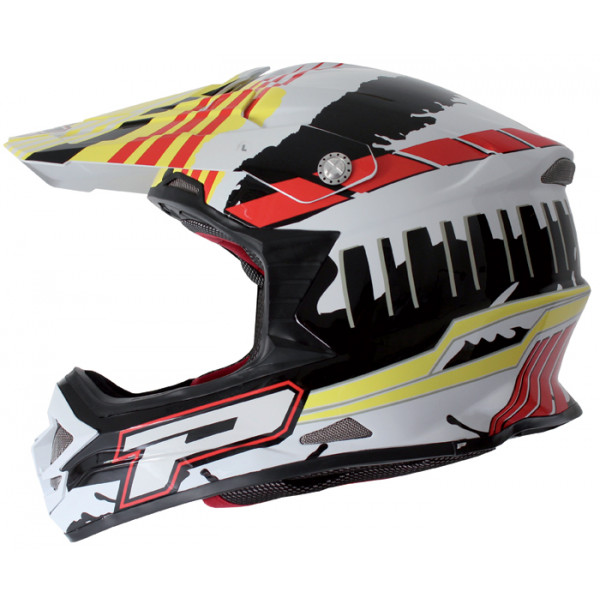 Cross helmet Progrip tri compound Fluo Podium