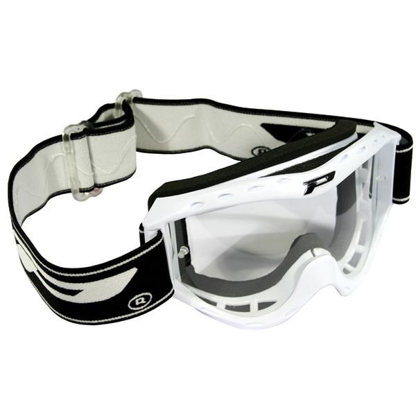 Goggles Progrip child cross White