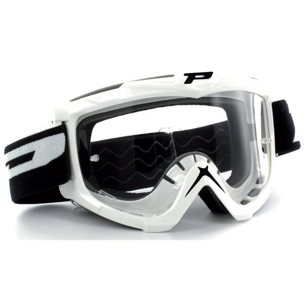 Goggles Progrip cross White