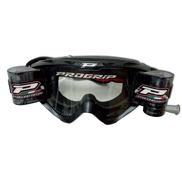 Cross Progrip goggles with roll off carbon