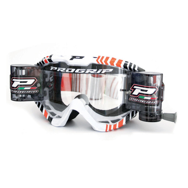Cross Progrip goggles with roll off Red