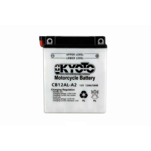 Kyoto battery Yb12al-a2 X4- 12v 12ah - L 135mm W 81mm H 161mm - acid