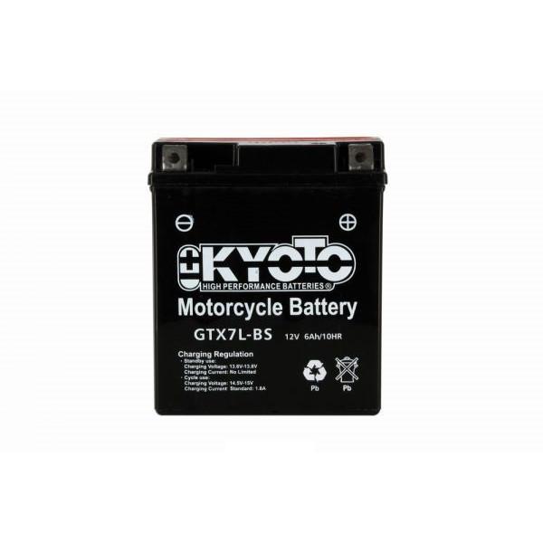 Kyoto battery Ytx7l-bs X6- 12v 6ah - L 114mm W 71mm H 131mm - with acid no maintenance