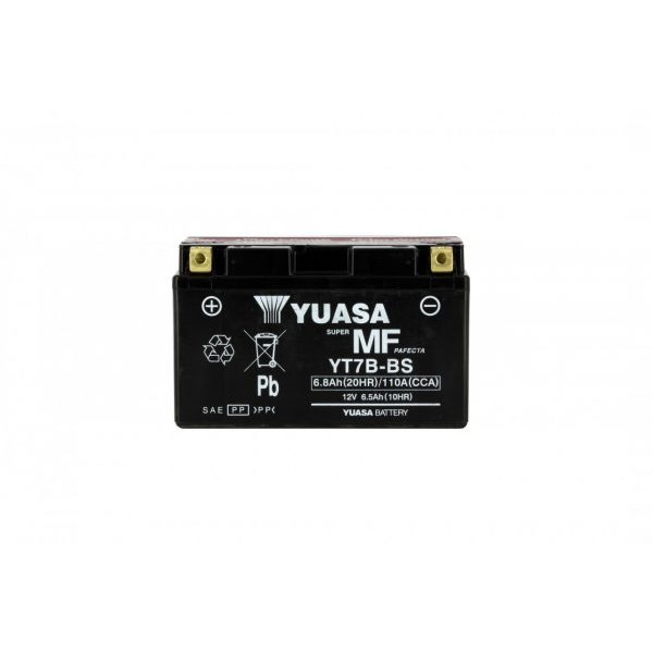 Yuasa battery YT7B-BS X6 AGM - 12v 6.5ah - L 150mm W 65mm H 92mm - with acid