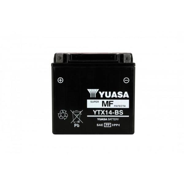 Yuasa battery Ytx14-bs X4 - 12v 12ah - L 150mm W 87mm H 147mm - with acid