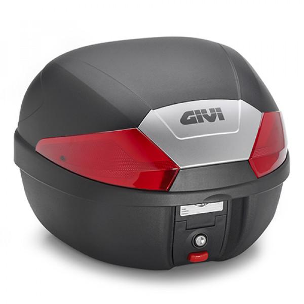 Givi B29 top case monolock 29lt black embossed with red reflectors
