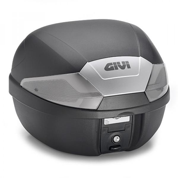 Givi B29 top case monolock 29lt black embossed with fumè reflectors