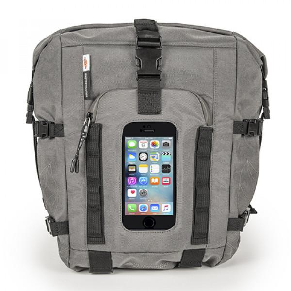 Kappa RA315 extensible tank bag 28lt convertible into a backpack or saddle bag Black