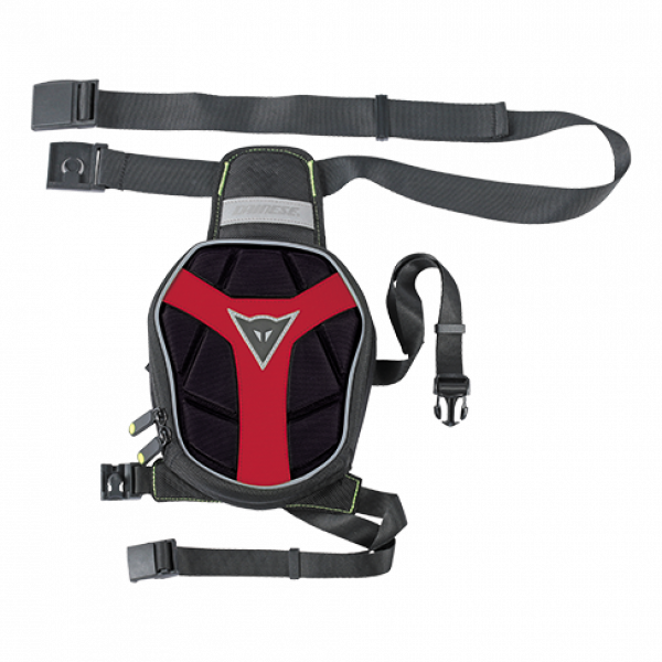 Dainese D-Exchange Small Leg Bag black black red