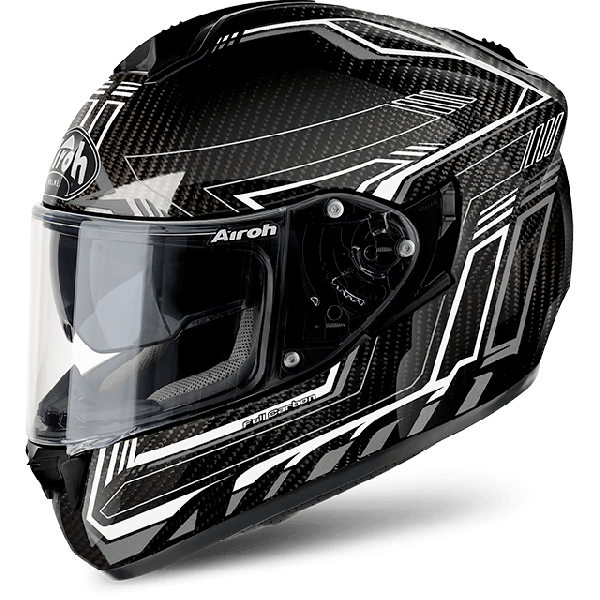 Casco integrale Airoh St 701 Pinlock incluso Safety full carbon bianco lucido in carbonio